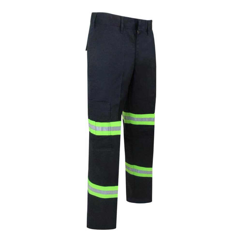 UNLINED PANTS WITH CARGO POCKETS AND REFLECTIVE STRIPES