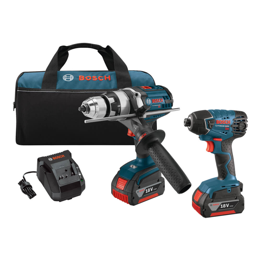 18V 2-Tool Combo Kit with Brute Tough™ 1/2 In. Hammer Drill/Driver and 1/4 In. Hex Impact Driver