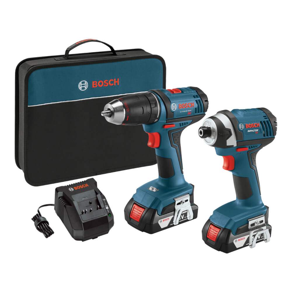 18V 2-Tool Combo Kit with Compact 1/2 In. Drill/Driver and 1/4 In. Hex Impact Driver