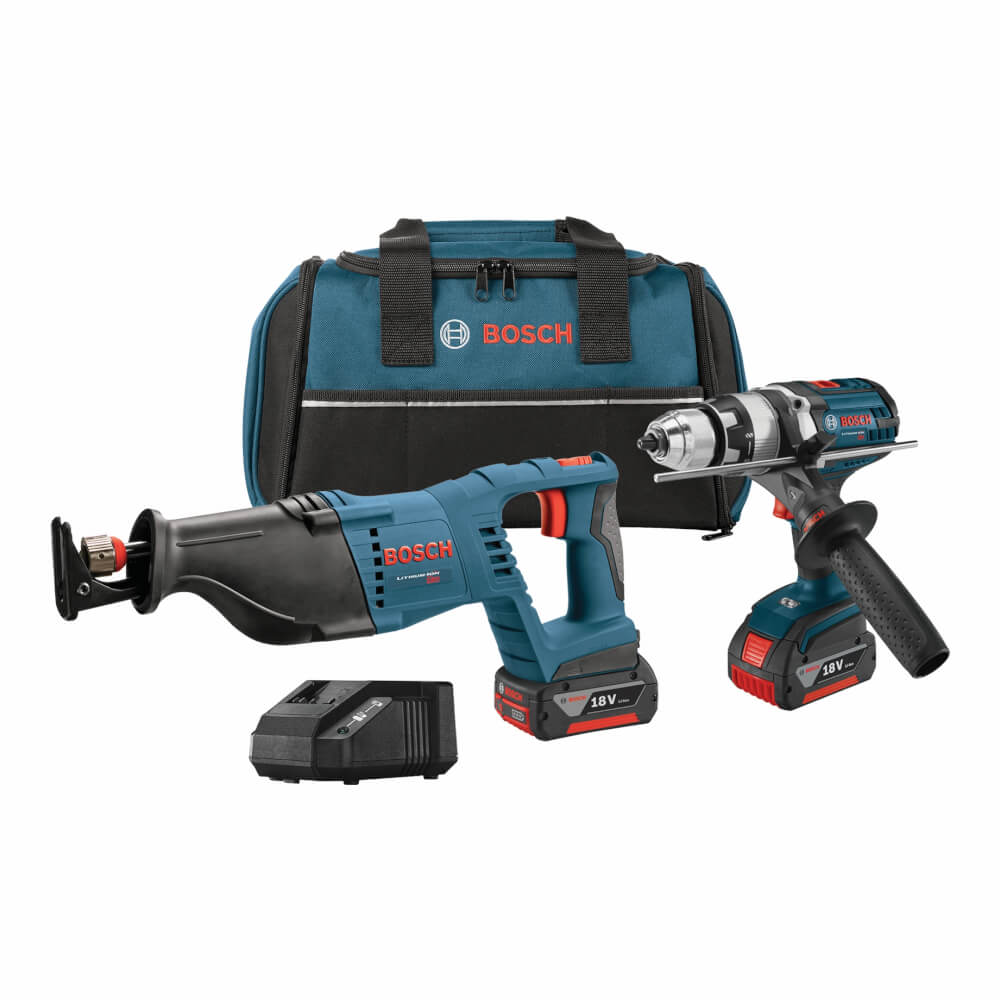 18V 2-Tool Combo Kit with Brute Tough™ 1/2 In. Hammer Drill/Driver and 1-1/8 In. Reciprocating Saw