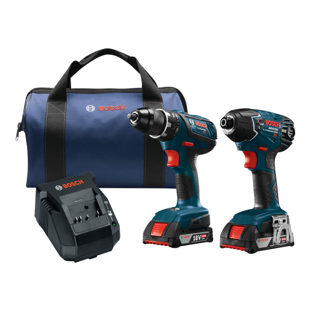 18V 2-Tool Combo Kit with Compact Tough™ 1/2 In. Drill/Driver and 1/4 In. Hex Impact Driver