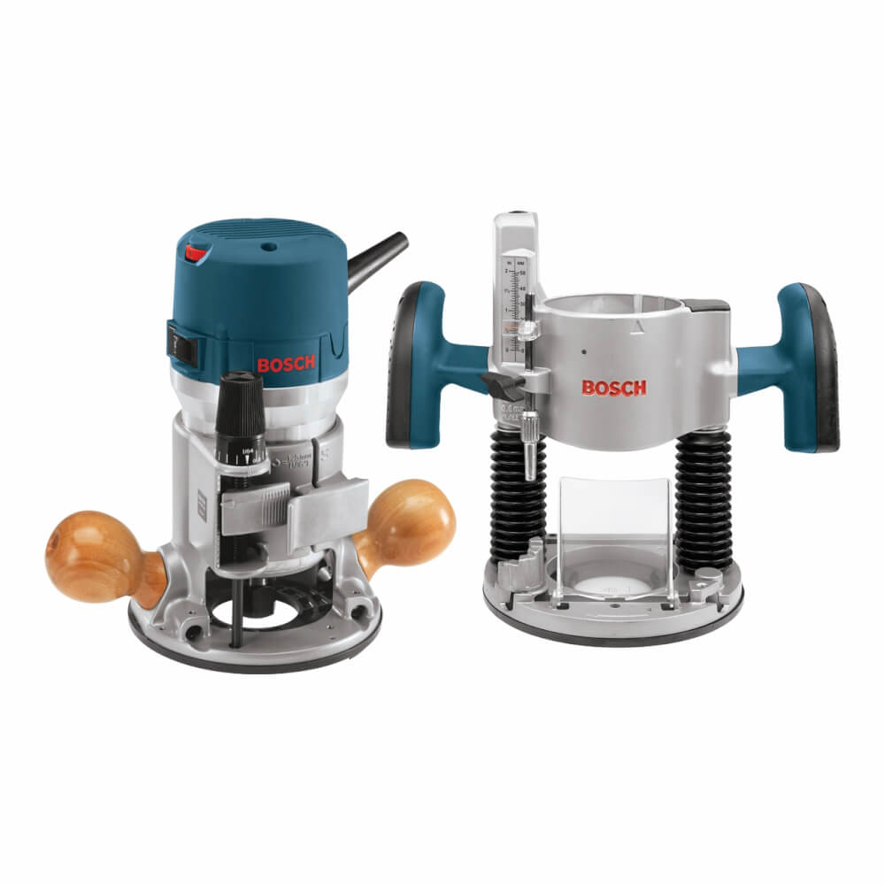 2.25 HP Combination Plunge- and Fixed-Base Router