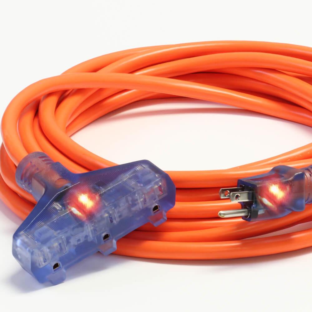 50' 12/3 SJTW Pro Star Tri Tap Ext Cord Orange