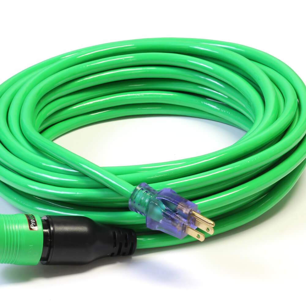100' 12/3 SJTW Pro Lock Ext Cord Green